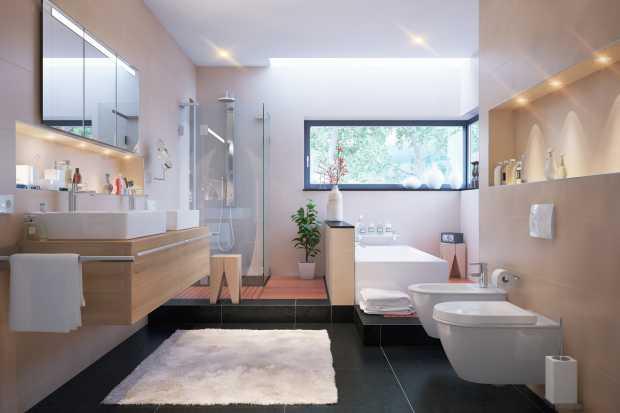 Badezimmer in Villa