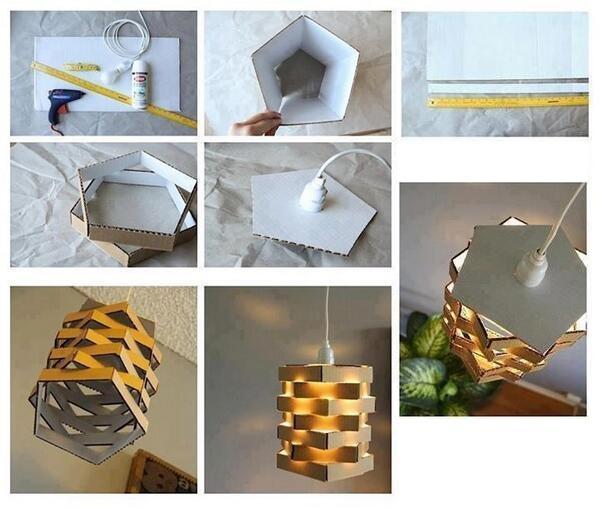 Cardboard Pendant