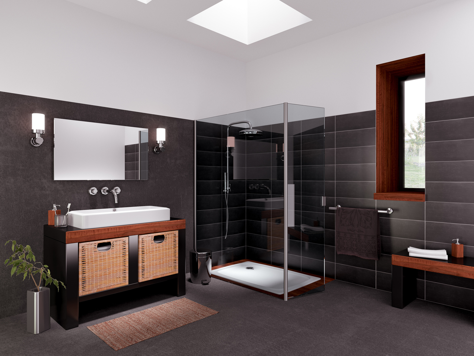 3D Modeling and Rendering of A Bathroom
