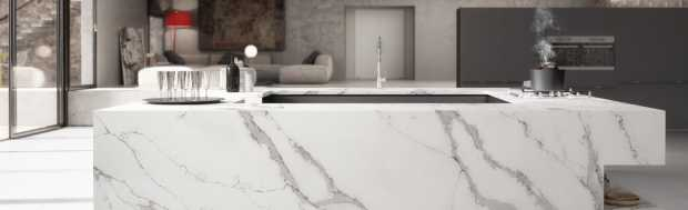 Compac Unique Calacatta Quartz Worktops
