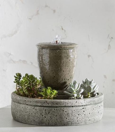 Campania Fountain with Planters