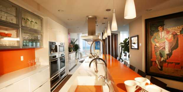 Compac Orange Kitchen Worktop