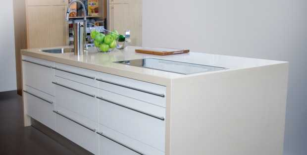 Compac Quartz Alaska Kitchen Worktops