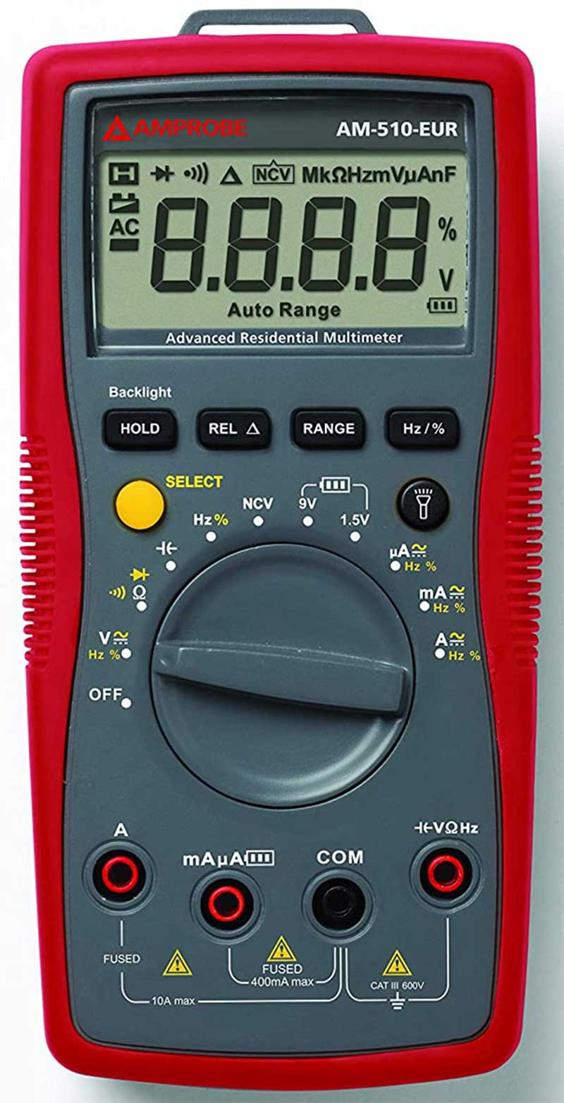 Amprobe AM 510 Commercial Residential Non Contact Residential Multimeter