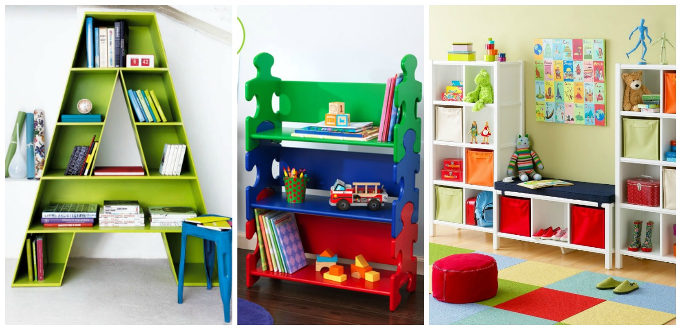 Wall decor ideas beautiful shelves designs for kids 39 room for Bookcases for kids room