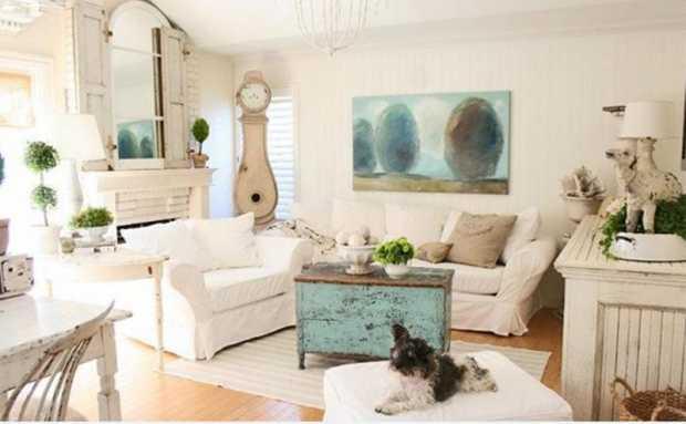 Artsy Shabby Chic Living Room