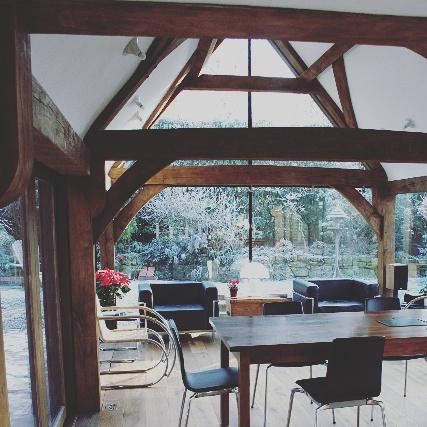 Oak Framed Sunroom Fully Glazed With Oak Flooring