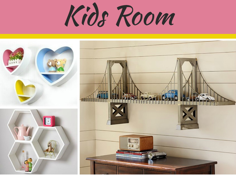 Wall Decor Ideas: Beautiful Shelves Designs for Kids' Room
