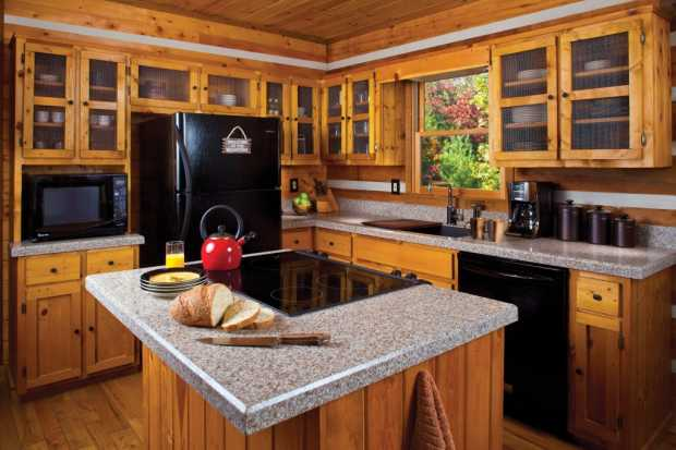Cabin Kitchen Island