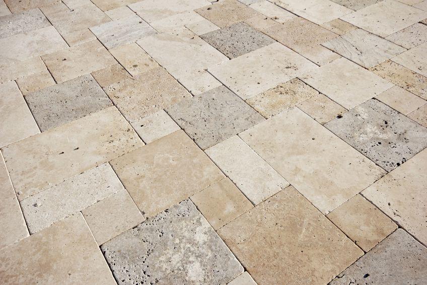 Limestone Versailles Pattern Floor Design