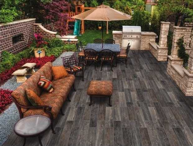 Outdoor Wood Tiles