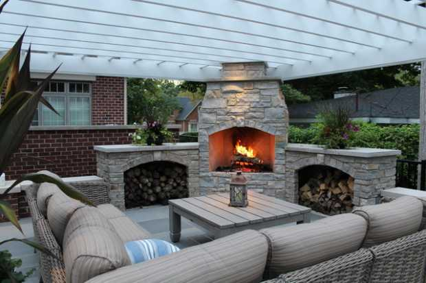 Outdoor Fireplace Structure