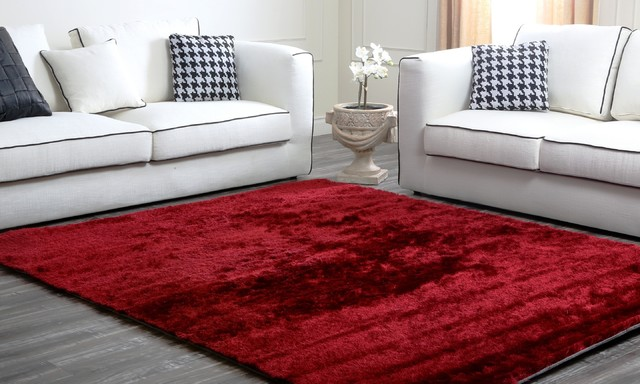 Red Plush Shag Rug