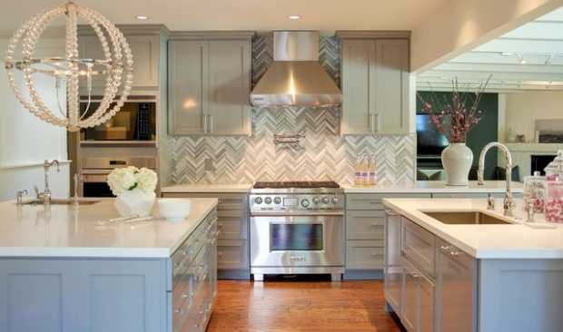 Herringbone Backsplashes