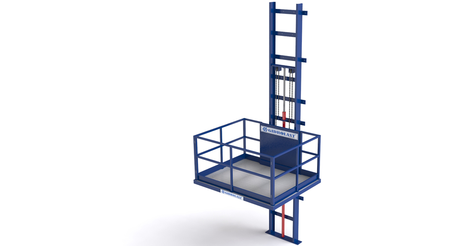 Cantilever Roped Hydraulic Lifts