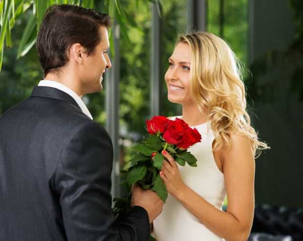 Beautiful Couple With Flower