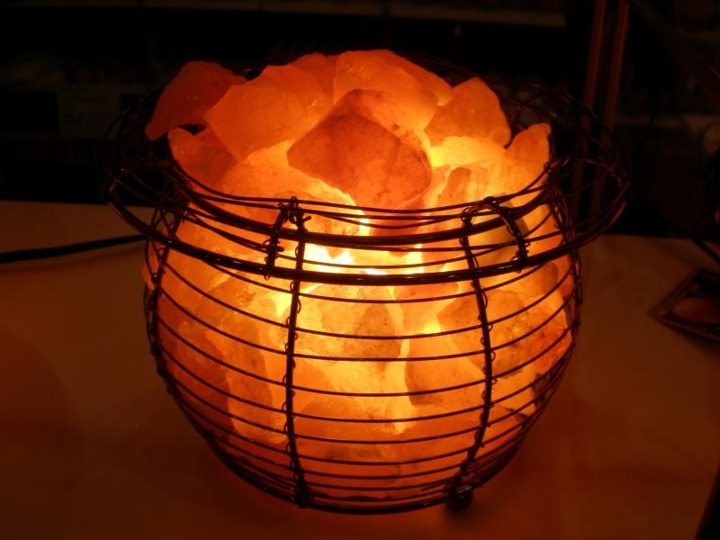 Crystal Himalayan Rock Salt in a Basket