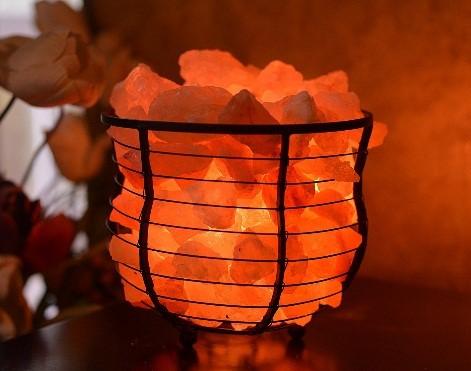 Crystal Himalayan Rock Salt in a Basket
