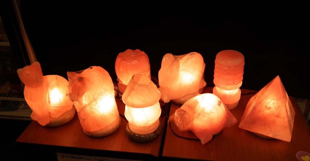 Himalayan Salt Lamp In Various Shapes