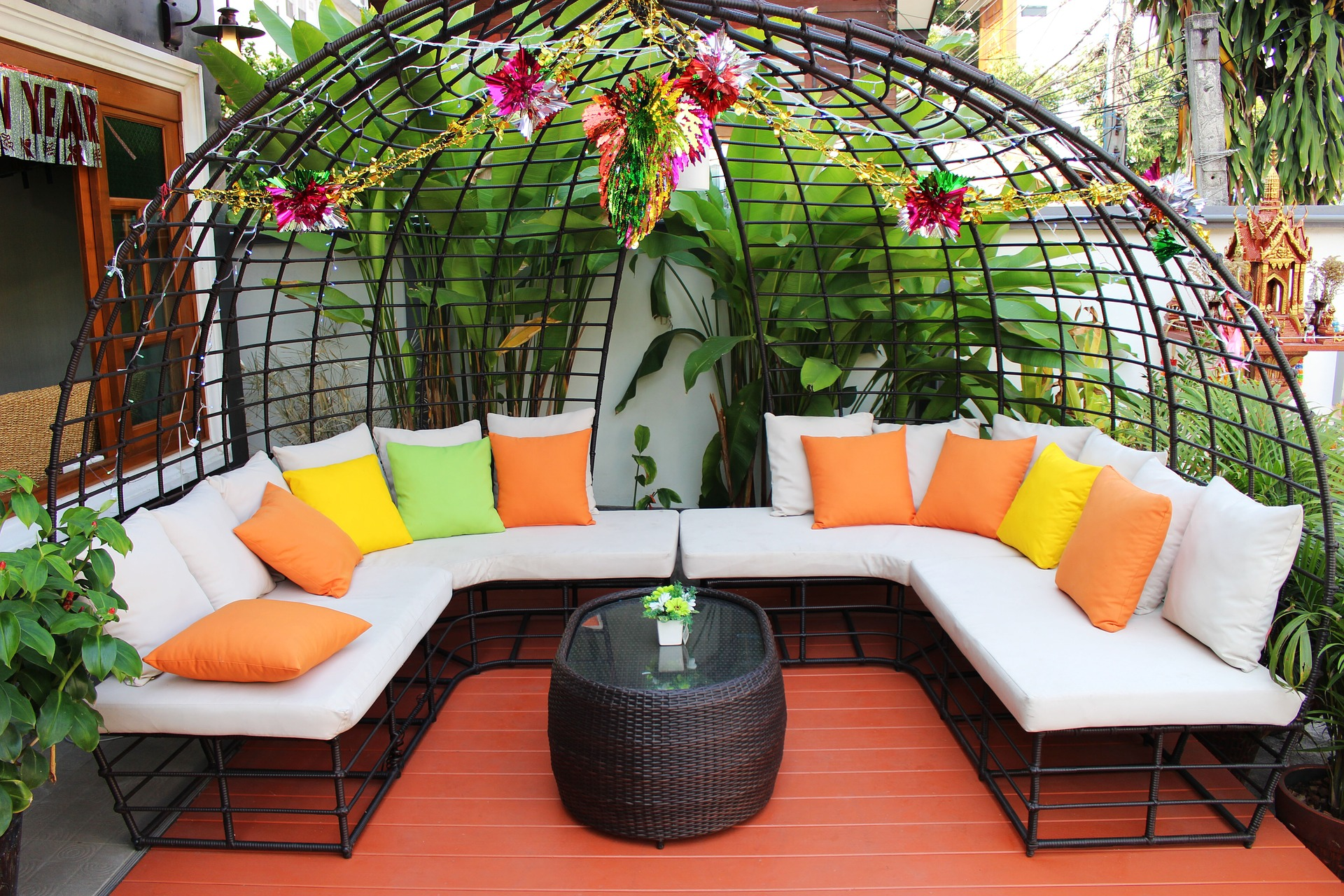 Colorful Seating Area