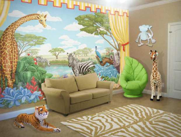 Safari Bedroom for Kids