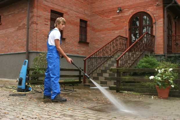 Pressure Washing The Outdoor Floor