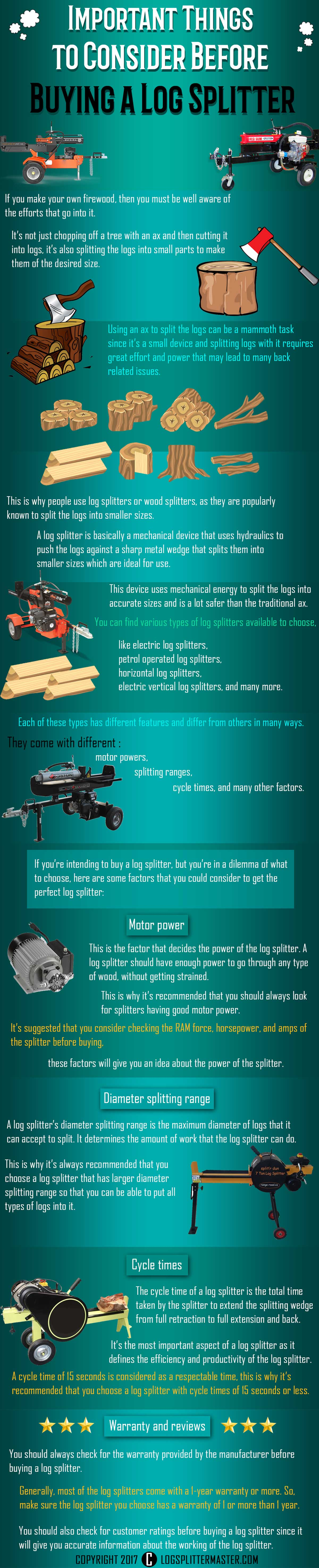 How To Choose The Best Log Splitter For Your Needs - Infographic