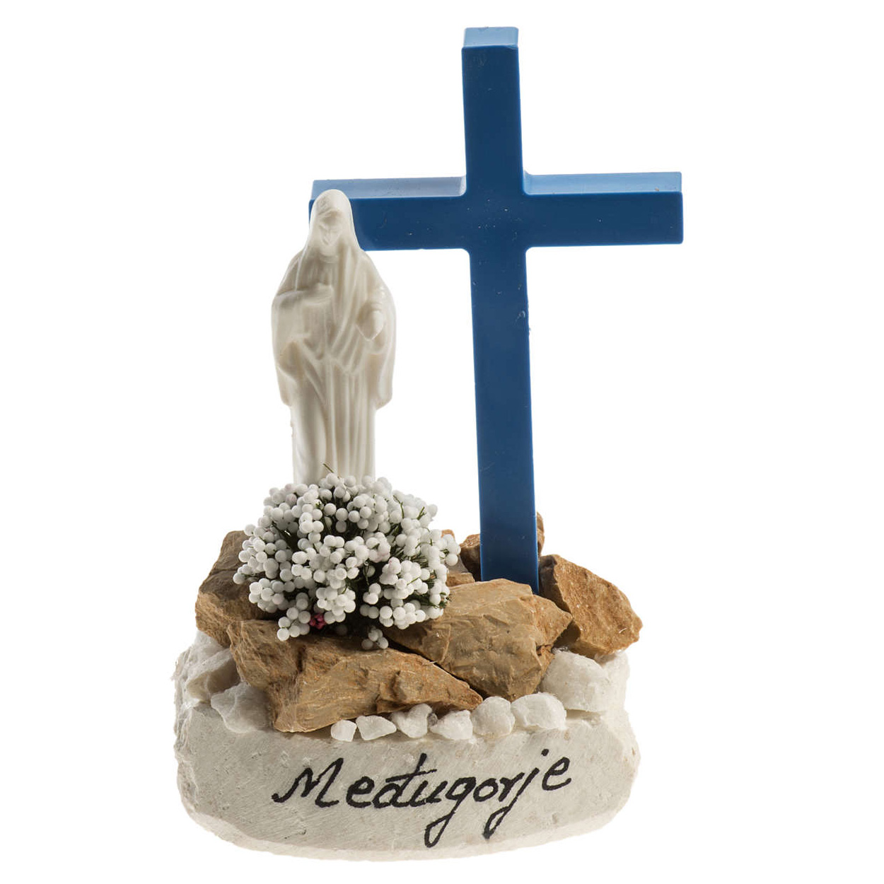 Statue With Blue Cross