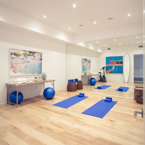 Ceramic Tile Floor Yoga Studio