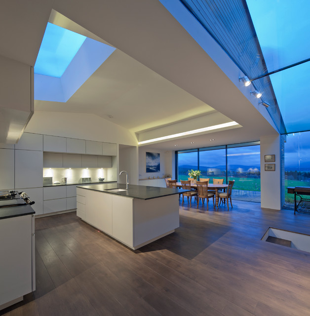Skylight With Cottage Kitchen