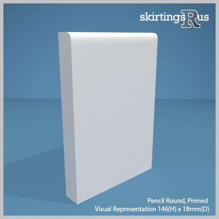Pencil Round MDF Skirting Board