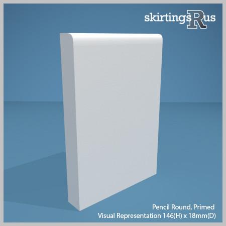 Pencil Round MDF Skirting Board