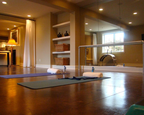 How To Turn Your Garage Space Into A Personal Yoga Studio My Decorative
