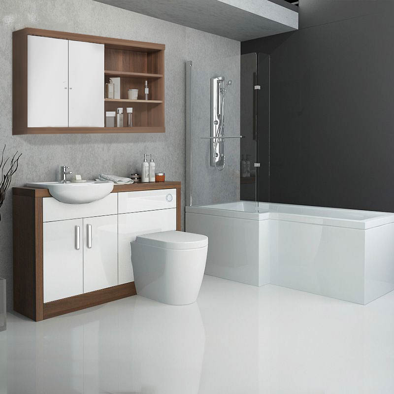 5 ways to build a modern bathroom suite in the uk on a for Affordable baths