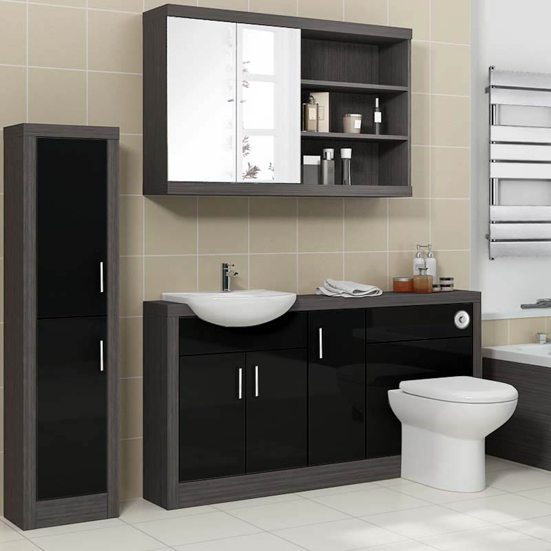 5 ways to build a modern bathroom suite in the uk on a for Cheap modern bathroom ideas