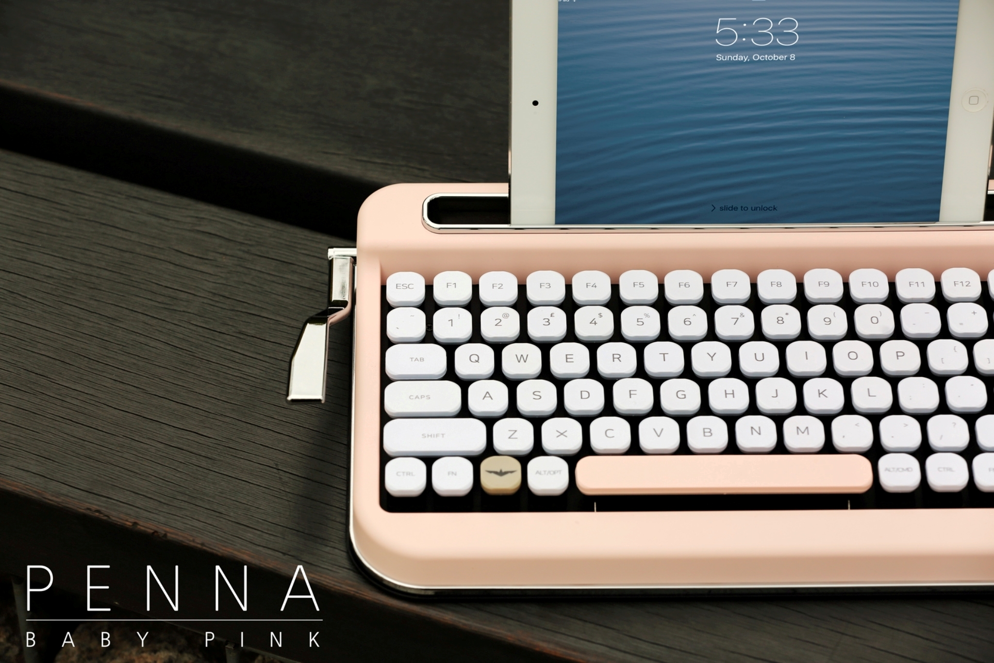 Multi-Pairing Baby Pink Wireless Keyboard