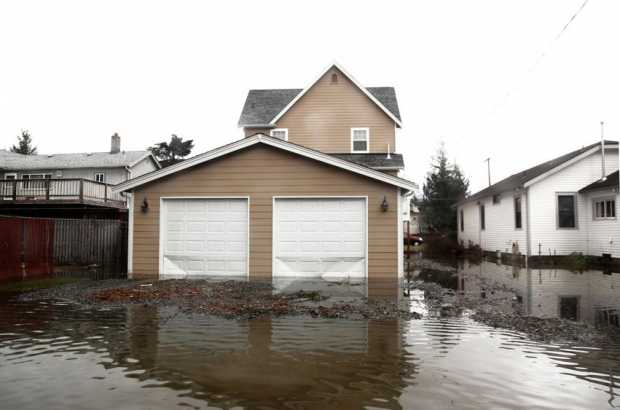 Flood Water Damage House