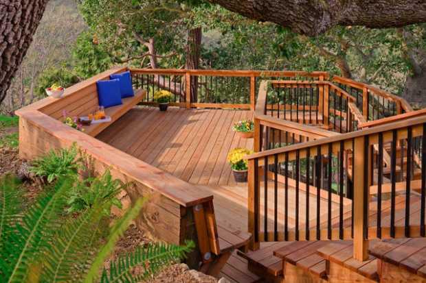 Cedar Wood Deck
