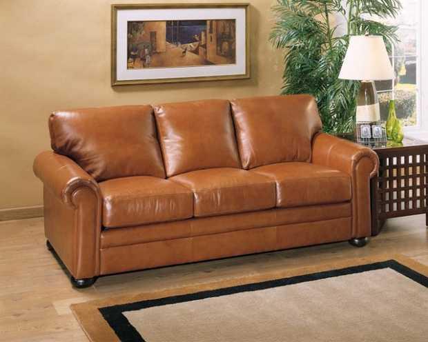 One Kings Lane Leather Sofa