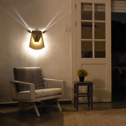 Popuplighting Deer Head Wall Lamp