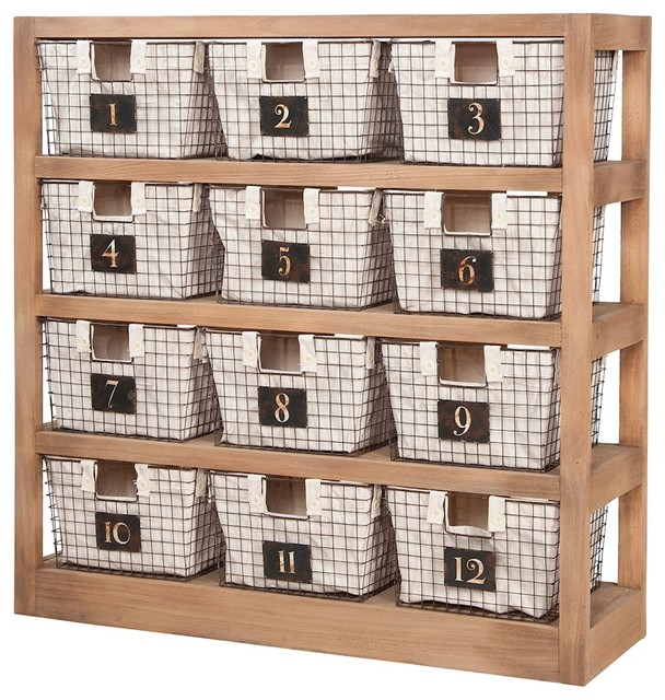 Shelves With Baskets