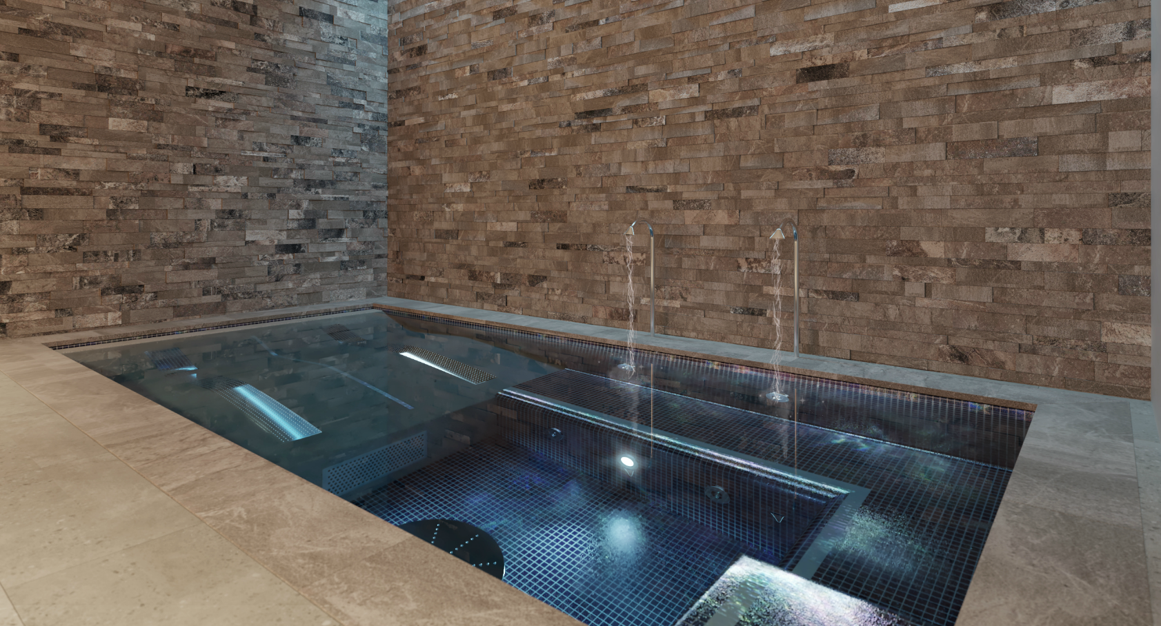 Basement Pool Water Features