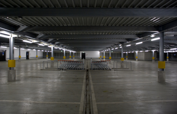 parking garages built with steel