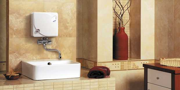 Electric Tankless Water Heater Bathroom Installation