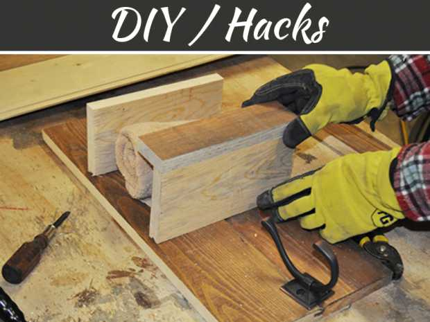 How To Make A Wooden Towel Rack