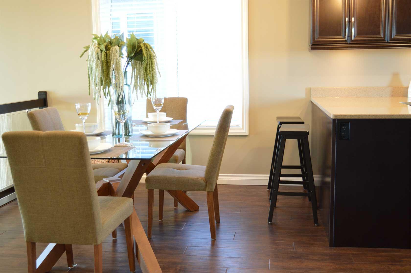 Table Wood House Floor Interior