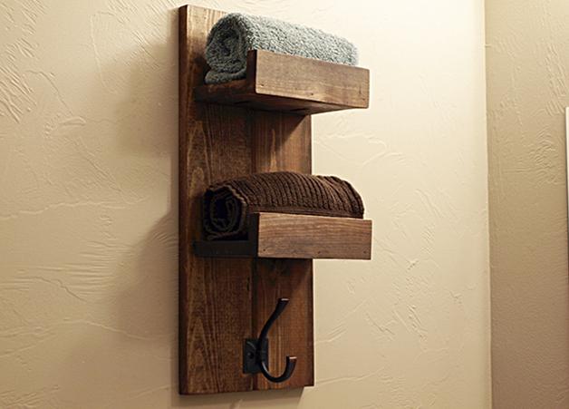 Wooden Towel Rack