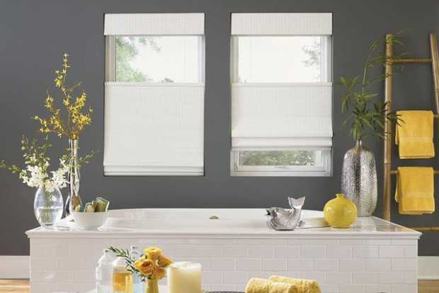 Bathroom Woven Wood Blinds