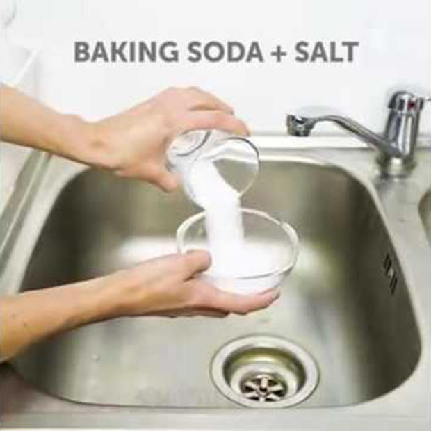 Baking Soda With Salt Drain Cleaner