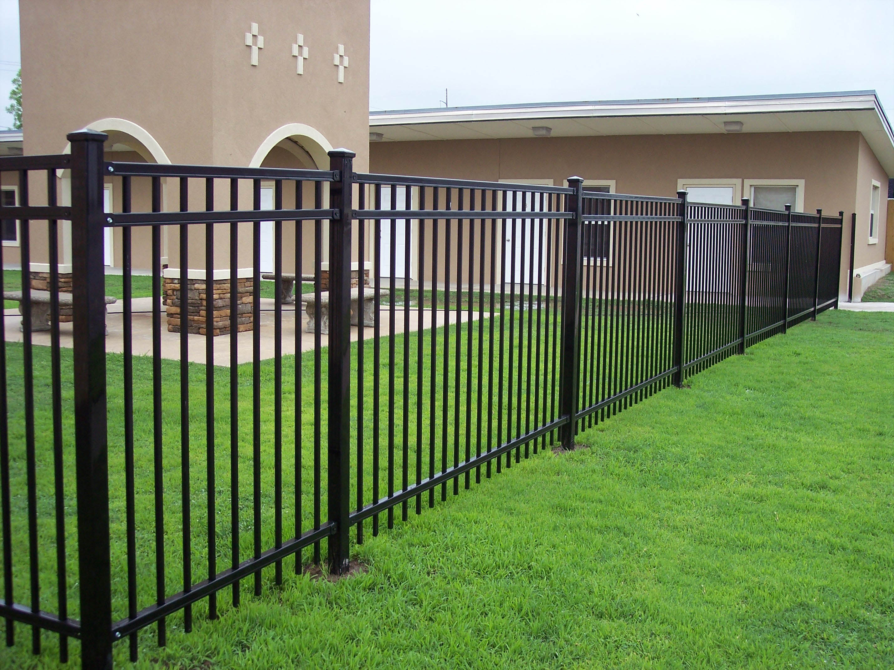 Traditional Wrought Iron Fence